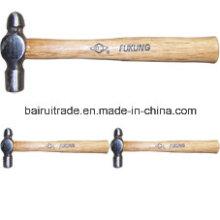 Marteau à bille avec manche en bois