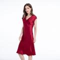 Silk V Neck Short Sleeved Nightdress Luxury Nightdress