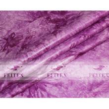 Purple Color Guinea Brocade 100% Cotton Bazin Riche Stock Jacquard Soft