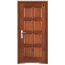 2014 New-Style Flat Design Steel Wooden Armored Door