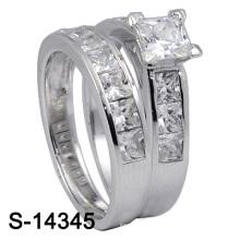 Стерлингового серебра 925 ювелирных изделий обручального кольца стерлингового серебра (S-14345. JPG, S-14345Y. JPG)
