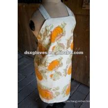 Delantal floral de algodón para mujer