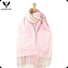 Acrílico moda escocés patrón big bolsillo bufanda bufanda