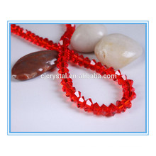 Types de perles de soucoupes volantes en cristal perles siam bicone