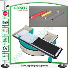 Diviseur de voie en plastique pour le comptoir de table de trésorerie