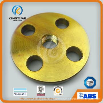 Bride filetée en acier au carbone ANSI B16.5 forgée avec TUV (KT0403)