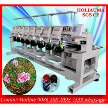 Industrial 8 Head Computerized Embroidery Machine for Garmetn Hat Embroidery