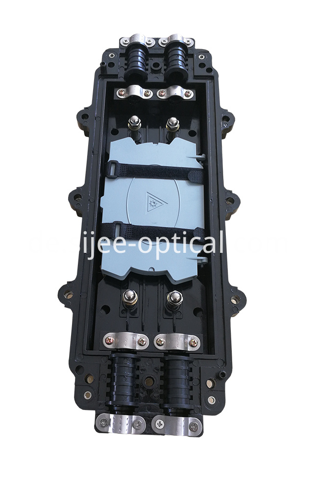 Fiber optic splice closure box