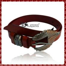 Design de ceinture en cuir extra large, ceinture en cuir avec boucle plate