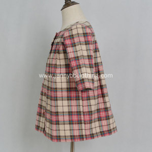 baby girl check autumn dress