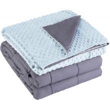 Schwerkraftgewichtete Angstdecke mit Bettdecke