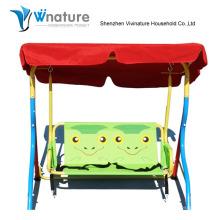 Jardin Enfants balançoire chaises avec cadre en métal