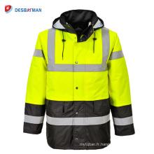 Imperméable à l'eau imperméable de manteau imperméable de veste imperméable de veste des hommes de moto avec la poche réfléchissante de bandes