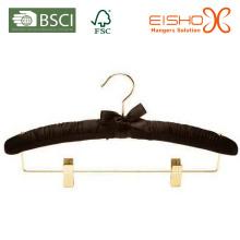 Black Satin / tecido acolchoado cabide para hotéis (MR009-1)