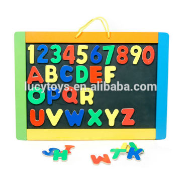 alphabets and numbers learning wooden magnet board toys