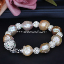 New Design Baroque Freshwater Cultured Pearl Bracelet