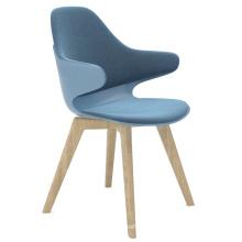 Modern Design Upholstered Restaurant Chair Wood Chair For Restaurant