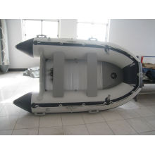0,9 mm PVC weiß & schwarz Merine Fluss Rudern Schlauchboot SD360 mit Außenborder