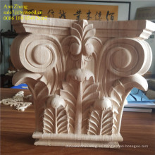 Material de madera maciza y elegante decoración casera. Ménsulas de madera.