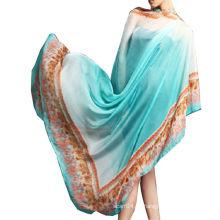 2016 Bufanda floral de la gasa del verano de la bufanda de la gasa al por mayor de la fábrica