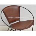 Cuero genuino forma redonda silla de diseño clásico