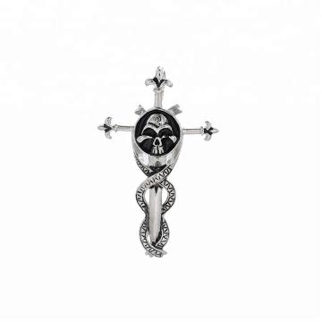 pendant-227  xuping  fashion Stainless Steel jewelry  skull head cross pendant