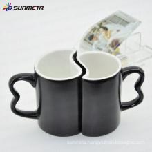 11oz black magic color change sublimation blank couple mug