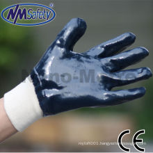 NMSAFETY oil resistant nitrile glove Heavy duty NBR working glove high quality