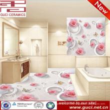 Wand 3d und Bodenfliese für Badezimmerfliesen entwirft keramische Bodenfliese 3d