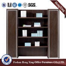 Aluminum Glass Doors Office Bookcase Modern Melamine Office Furniture (HX-5NF077)