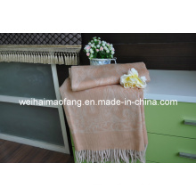 100%Pure Wool Throw with Fringe (NMQ-WT039)