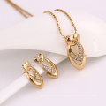 61960-Xuping Fashion Woman Jewlery Set with 18K Gold Plated