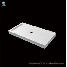 Salle de bain de vente chaude Coin acrylique profond Base de douche