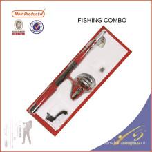 FDSF295 Mini Portable Pocket Fish Pen Aleación de aluminio Caña de pescar Pole Reel Combos