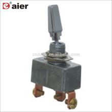 R13-401-103 50A SPDT 3Pin interruptores de palanca automotrices cubiertas de cromo