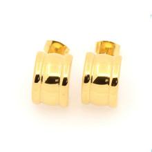 Moda design especial de aço inoxidável brinco de ouro de jóias por atacado, simples projetos de brinco de ouro para as mulheres