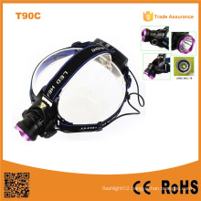 T90c 400 Lumen Xml High Power Zoom Xml T6 LED Headlamp