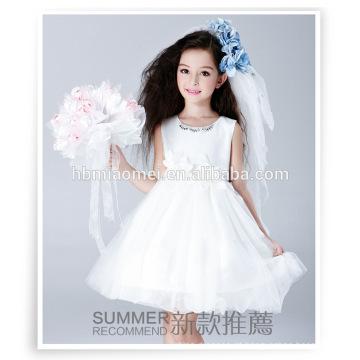 Vestido de baile flor fofa meninas fada vestido de festa wester desgaste da rainha pequena flor vestido da menina com preço barato