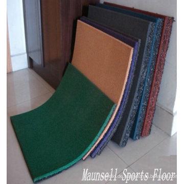 China Facroty Verkauf Gummi Interlock / Fliesen / Roll Sport Gym Bodenbelag