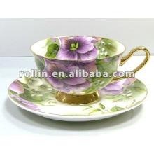 Wholesale cheap good quality chinese porcelain embos porcelain teacup set