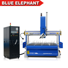 ELE- 1530 - 4A 4 axis wood cnc router with YASKAWA servo motor for wood ,mdf