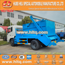 4x2 10cbm DONGFENG tianjin 190hp swing arm garbage truck /container hooklift garbage truck trash truck new model good quality