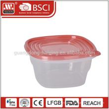 Klaren umweltfreundlichen Kunststoff-Lebensmittel Grade transparente Vorratsbehälter mit Deckel
