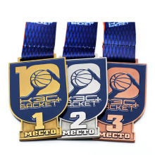 Cheap Wholesale Custom Award Metal Sport Competition Medal With Ribbon