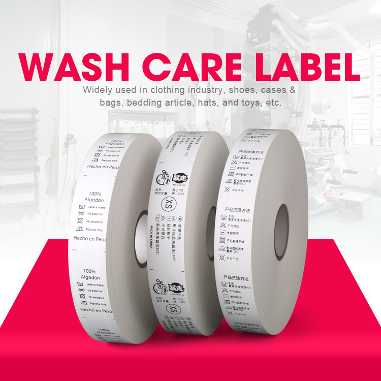 custom wash care labels