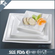 pate à dîner carré en porcelaine blanche, assiette à pizza, assiette de style coréen