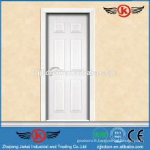 JK-MW9008 blanc pur blanc style intérieure porte en mélamine en bois