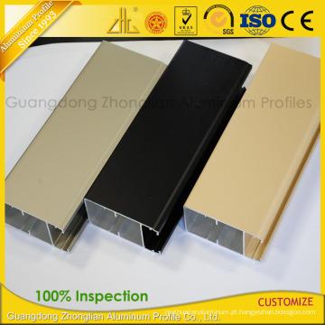 A extrusão de alumínio do revestimento Electrophoretic a mais nova para a decoração da janela e da porta