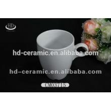 Plain weiße keramische kaffeetasse, kundenspezifischer keramischer Becher, Porzellanbecher