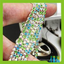 Hand Made dmc rhinestone cup chain close roll